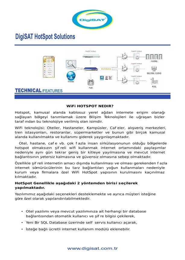 HotSpot Hizmeti - Digisat Network | 0(212) 486 35 88